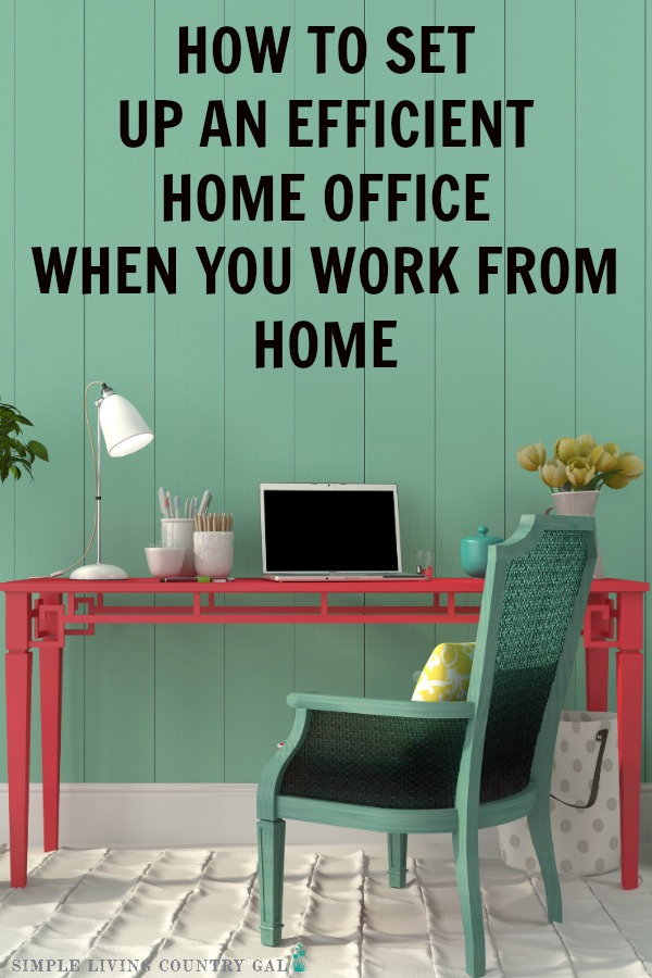 a step by step guide to setting up an office in your home