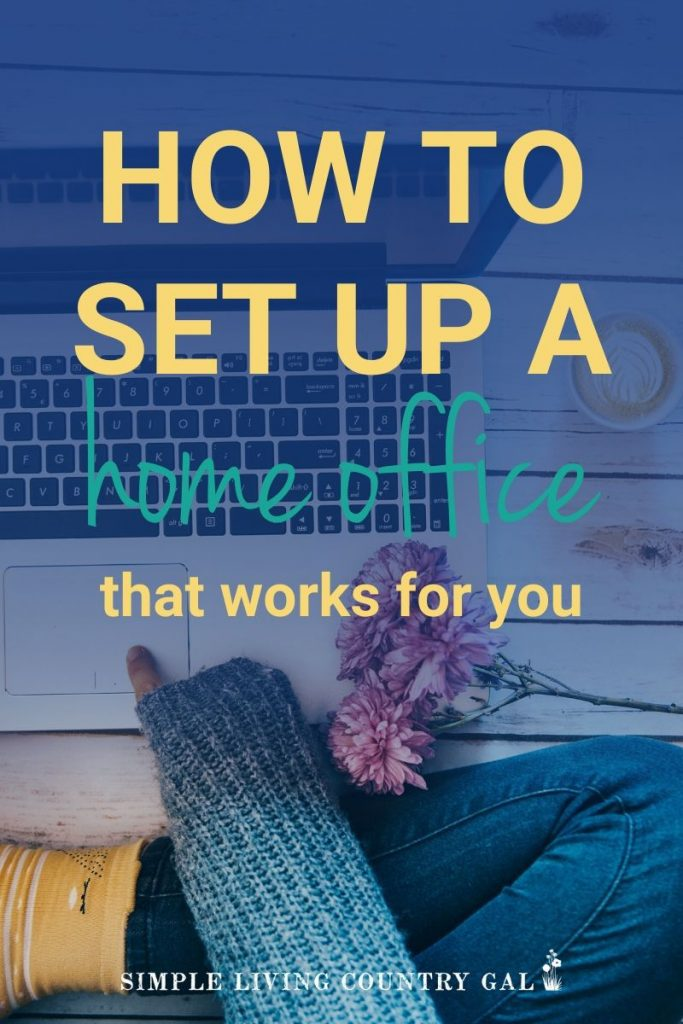 Do you work from home and find it impossible to be productive and creative? Follow these super simple steps on how to make a space in your home that will encourage you to live the life you want in a space you love and enjoy. #declutter #organize #workfromhome #homeoffice #officeorganization #homeofficetips