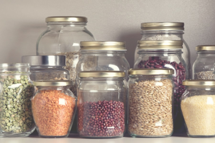jars of food. How to save money in the kitchen