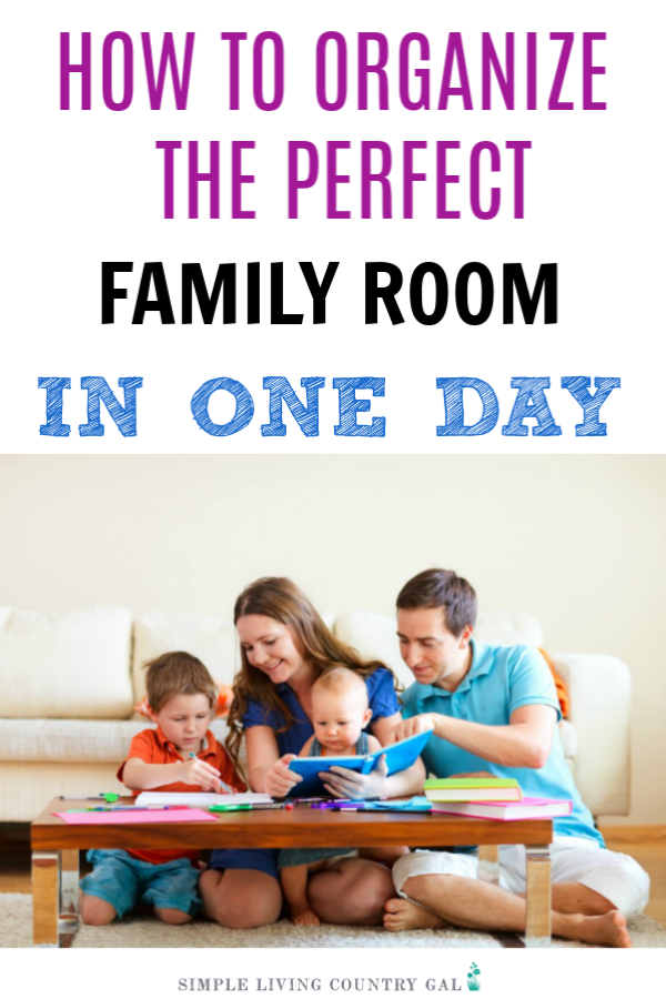 Are you ready to take back your family room again? Tired of stuff all over the furniture and floor? Well if you are ready to do this, then I am here to help! These are the exact steps I used to tackle my own family room and it has stayed clutter free ever since! #declutter #clutter #declutterfamilyroom #declutterandorganize