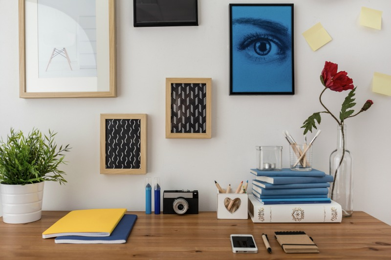 adding some fun to a home office. How to set up an office in your home.