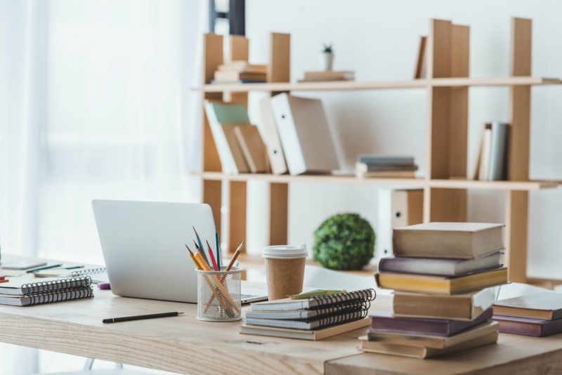 a home office. How to set up a home office.