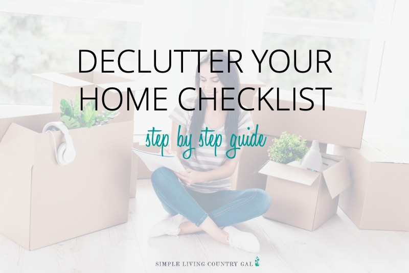 Printable Declutter Checklist PDF