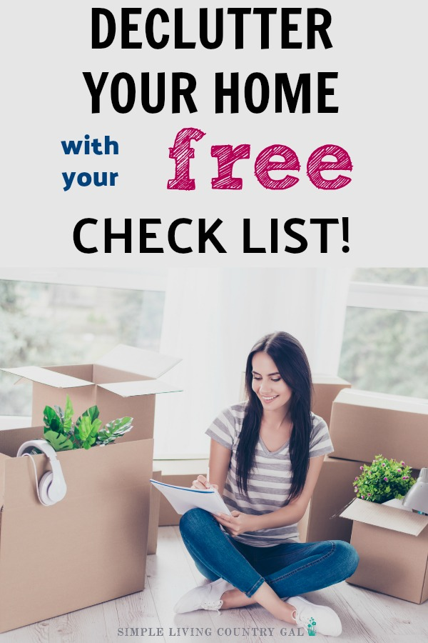 how to declutter your home checklist pdf