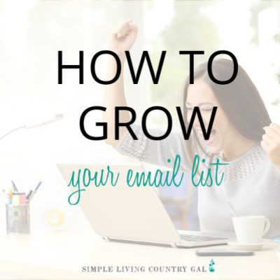 woman online learning how to grow your email list