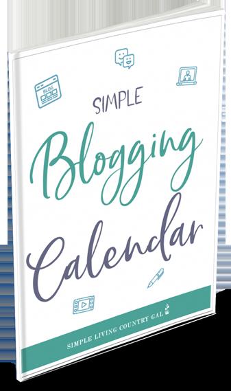 2020 simple blogging calendar