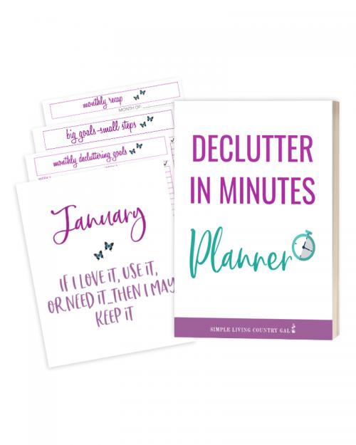 Declutter in Minutes Planner