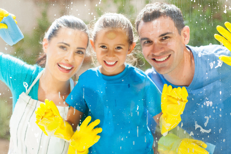 cleaning hacks to try as a family