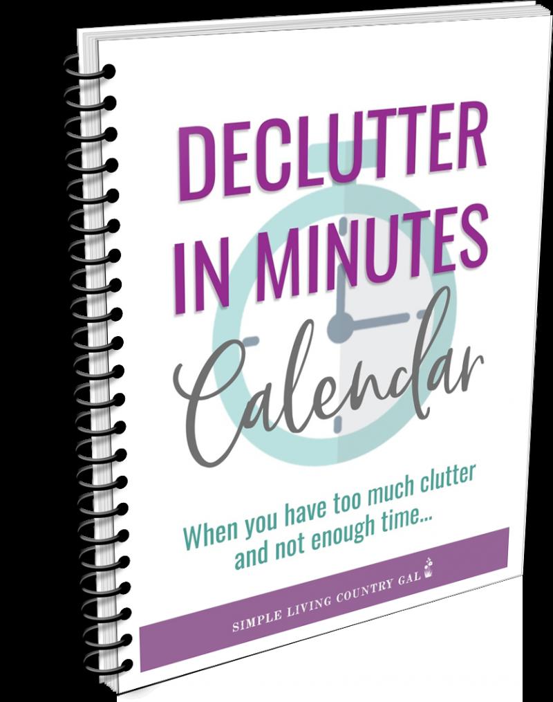 Declutter in Minutes Calendar