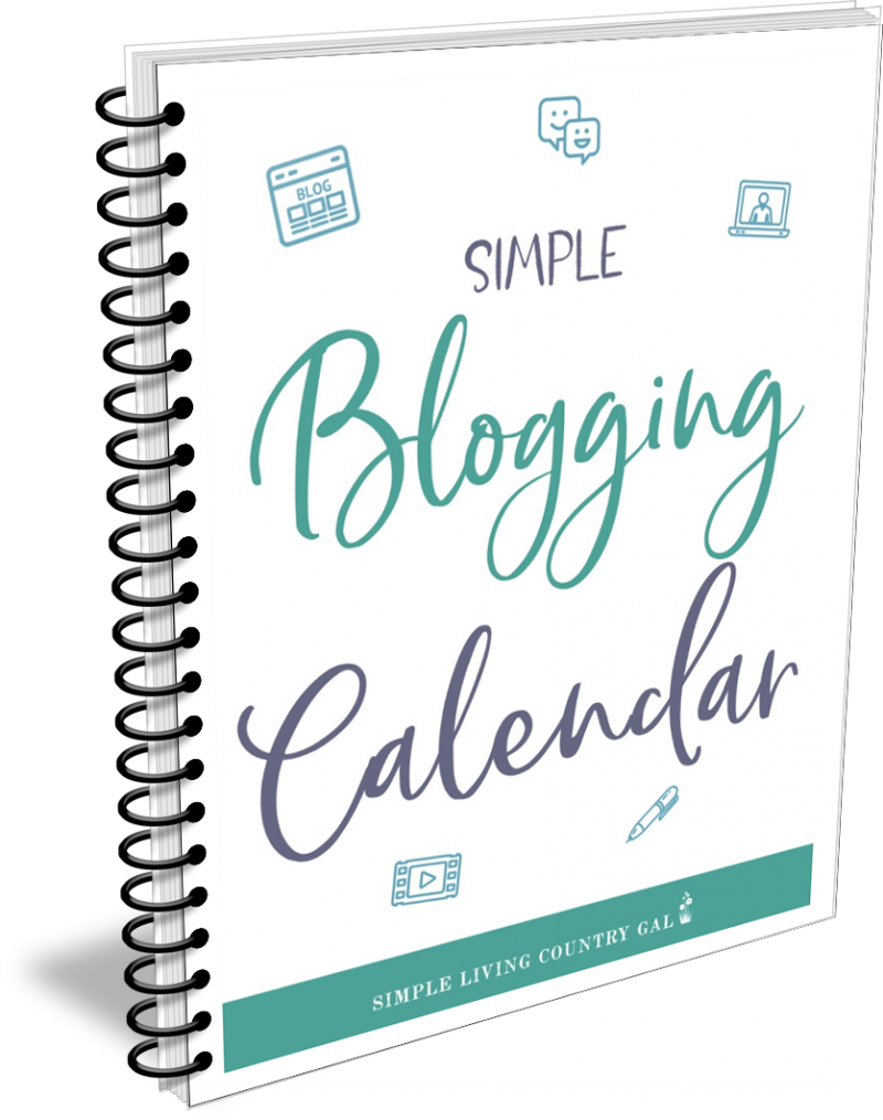 simple blogging calendar
