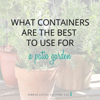 Have you ever grown a vegetable garden on your porch or patio? It is so much easier than you think. No, you do not need a large garden in your yard to enjoy produce this summer, just a few seeds and plants and a bit of imagination will turn just about any container into a patio vegetable garden this summer for your home. #patiogarden #vegetablegardencontainers #citygarden