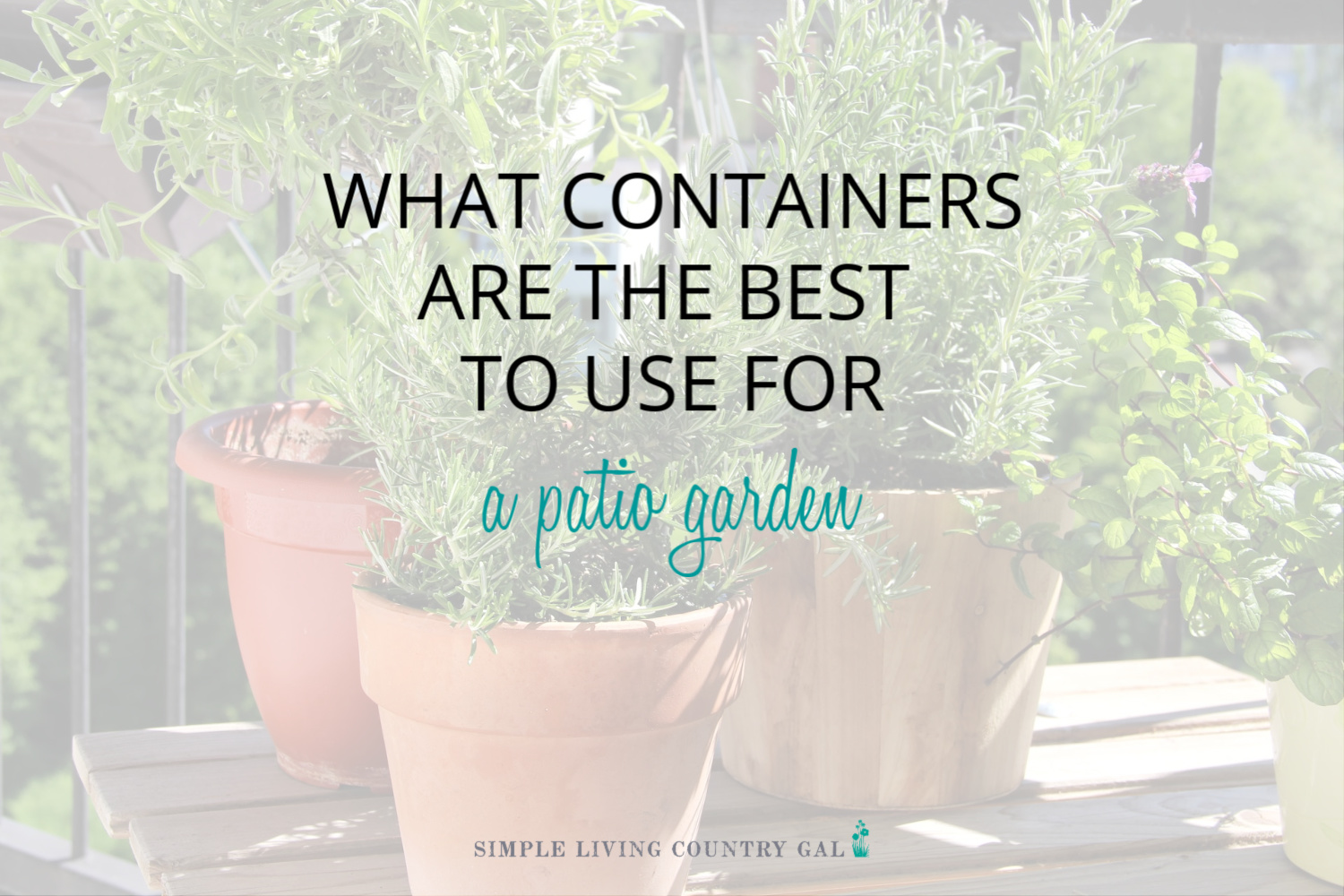 What containers work best for a patio garden?