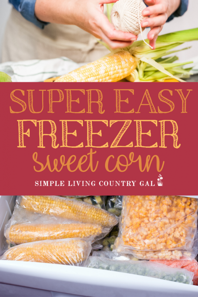 One of my favorite things to preserve is corn. And there is nothing easier than freezer corn. A step by step guide that will fill your freezer with a bit of summer to enjoy all winter long. #canning #freezingcorn #gardening