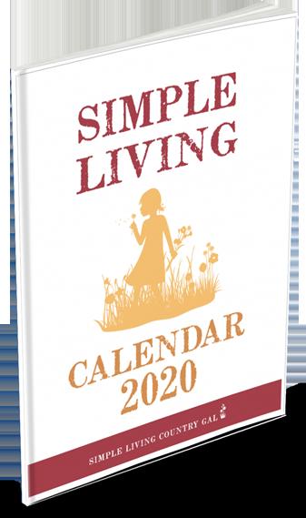 2020 simple living calendar