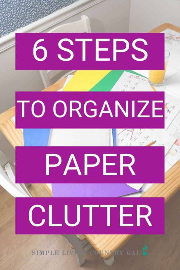 how to stop paper clutter for good