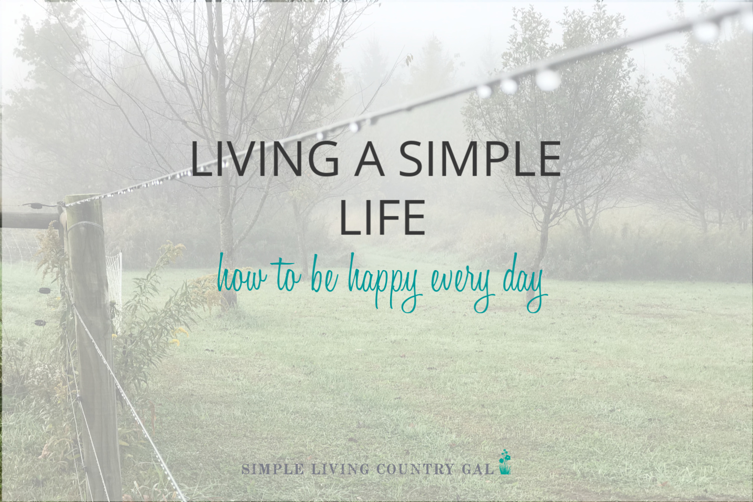 Living a Simple Life – How to Be Happy Every Single Day