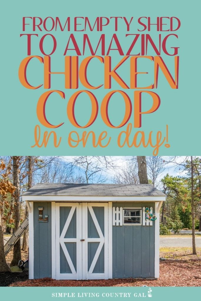 diy chicken coop in one day