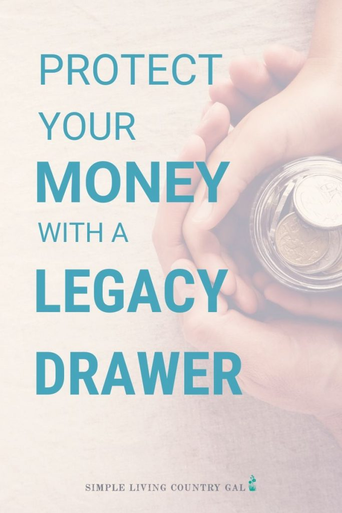 Having a legacy drawer is a simple thing to set up and so important for your family. No matter how old you are or whether you are married with children, having a legacy drawer in place is a comfort to both you and your family. #retirement #moneysavingtips #simpleliving #legacydrawer