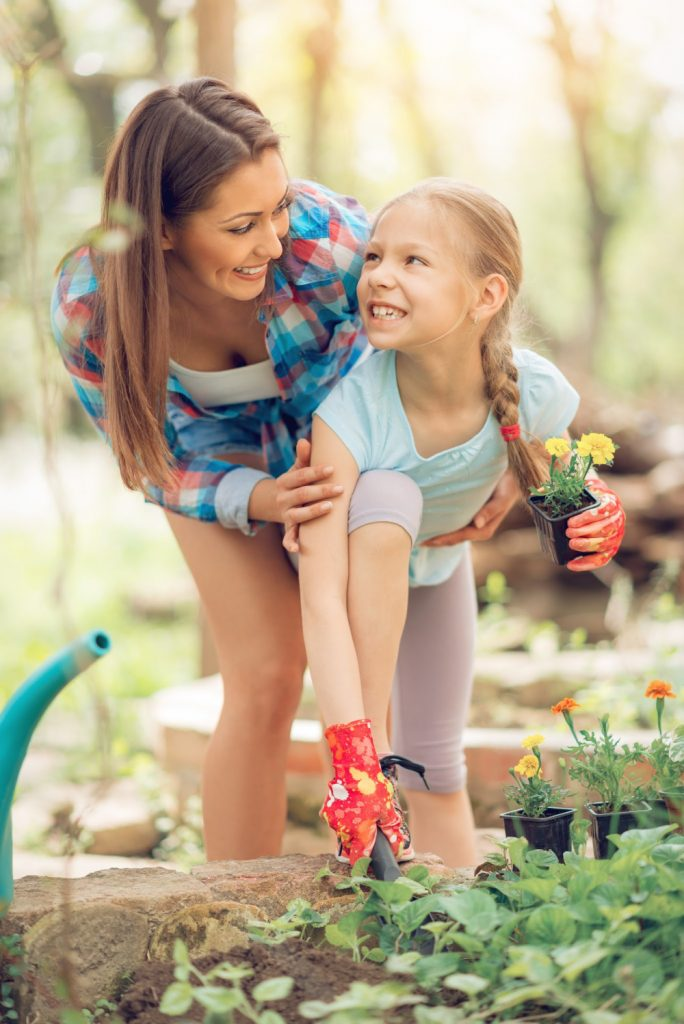 gardening time with children