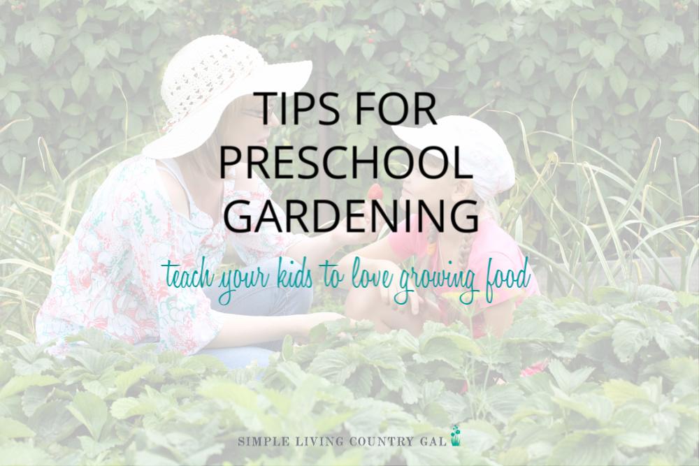 Family Gardening Tips For Preschool Gardening