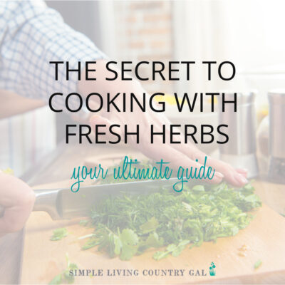 how to cook with fresh herbs